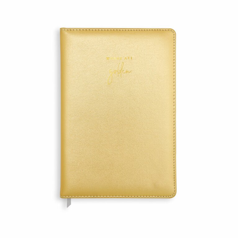 PU Notebook | Words Are Golden | Metallic Gold