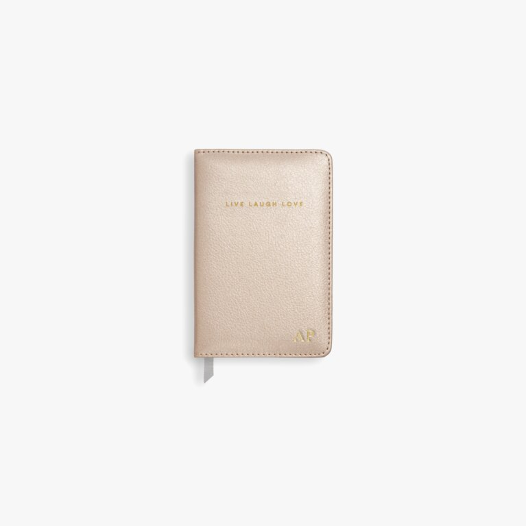 Mini Notebook Live Laugh Love In  Pearlescent Pink