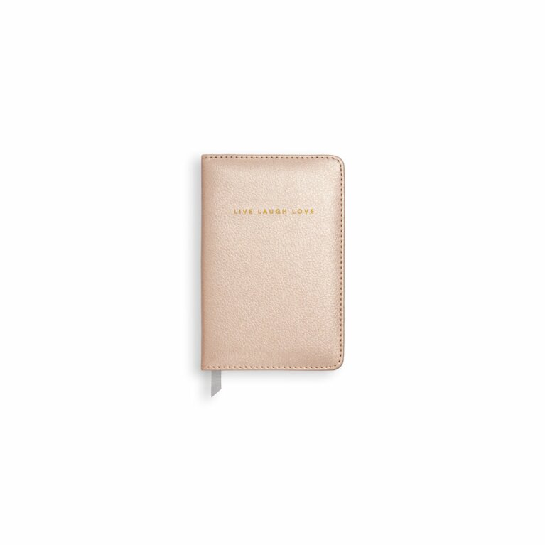 Mini Notebook | Live Laugh Love | Pearlescent Pink