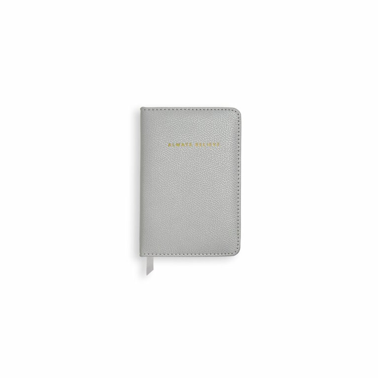 Mini Notebook | Always Believe | Pearlescent Silver
