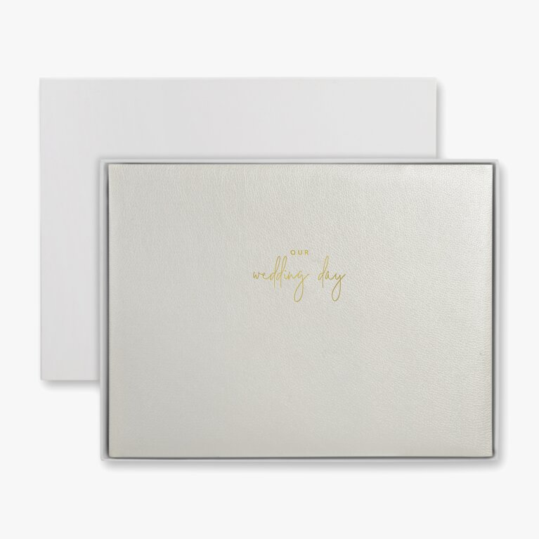 Wedding Day Photo Album | Pearlescent White