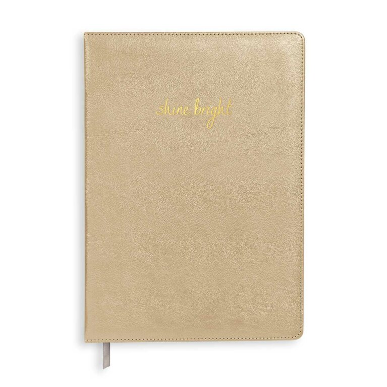 A4 Notebook | Shine Bright | Metallic Gold