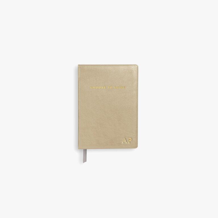 Mini Notebook Choose To Shine In Metallic Gold