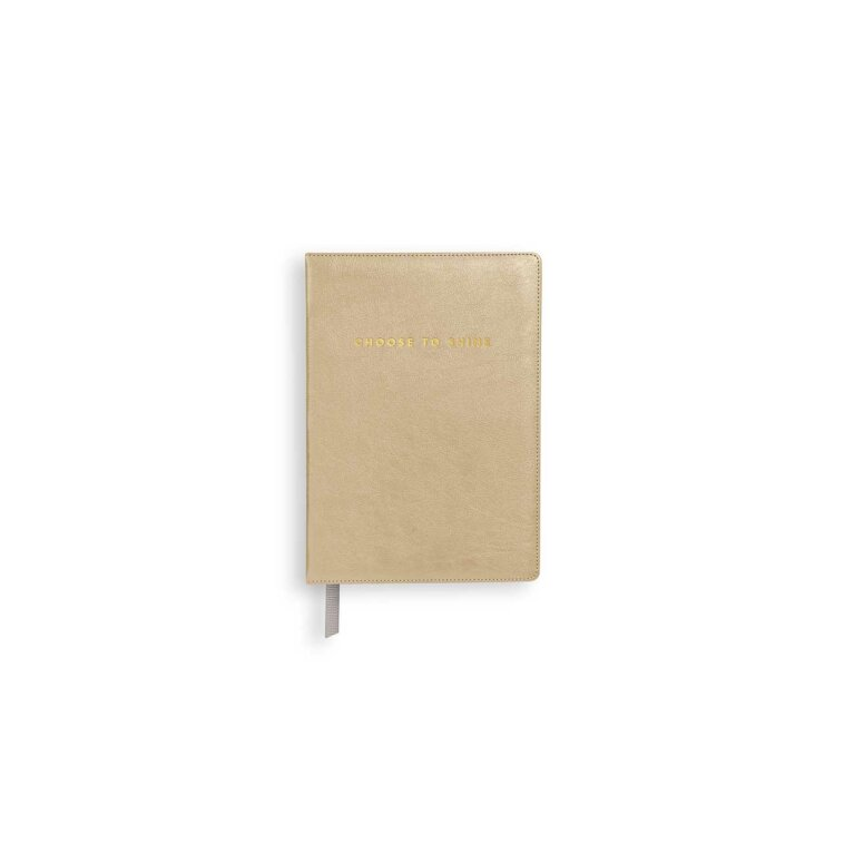 Mini Notebook | Choose To Shine | Metallic Gold