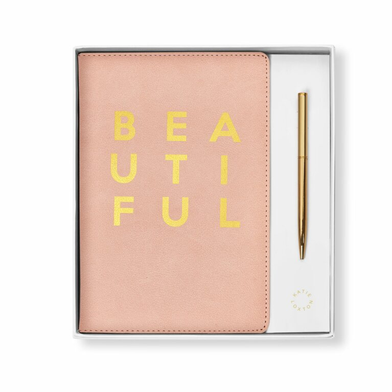 Beautifully Boxed A5 Notebook and Pen Set | Beautiful | Pink