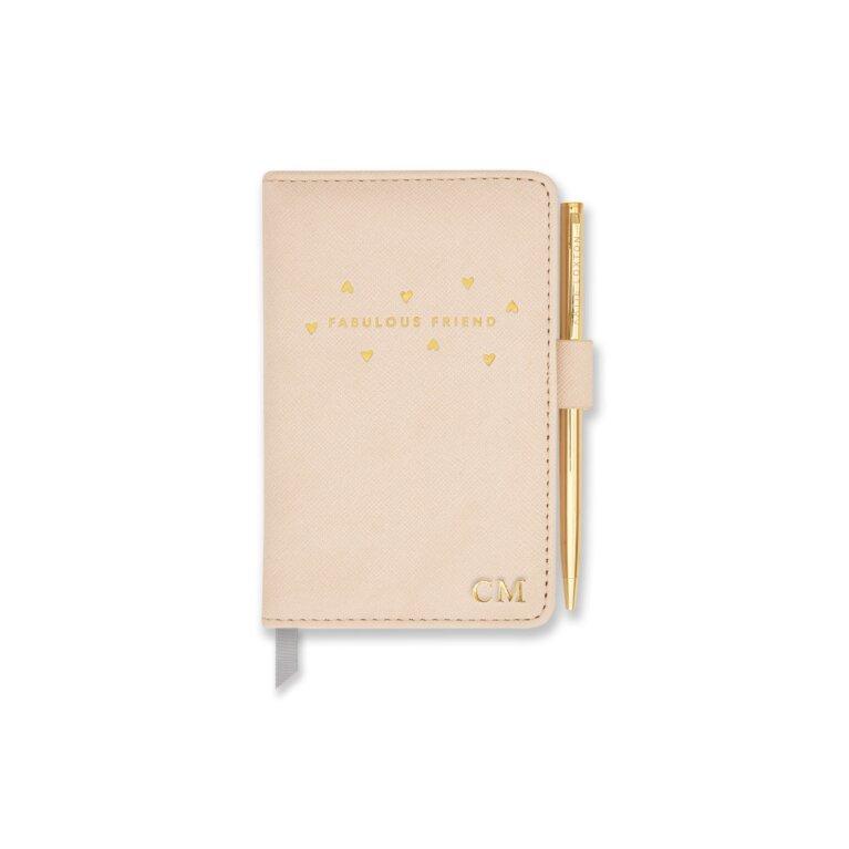 Mini Notebook And Pen Set Fabulous Friend In Nude