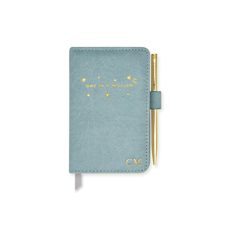 Mini Notebook And Pen Set One In A Million In Blue