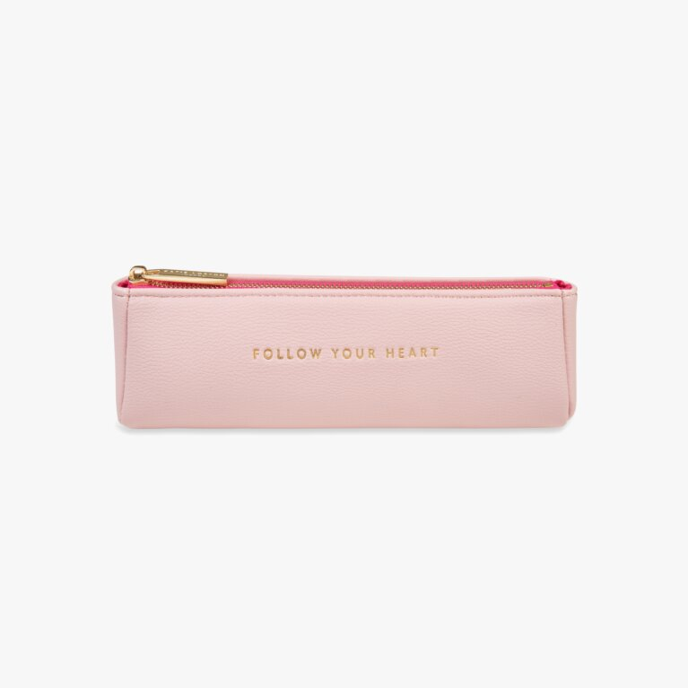 Pencil Case | Follow Your Heart | Pink