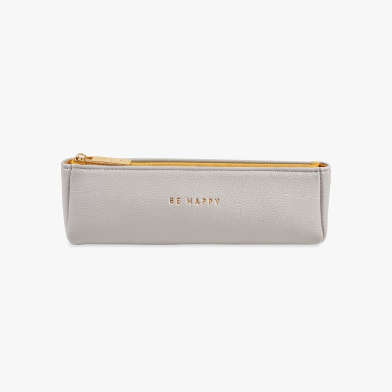 Pencil Case | Be Happy | Grey