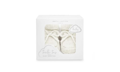 Knitted Baby Boots | White