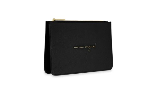 Stylish Structured Pouch | Make Today Magical | Black