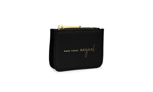 Stylish Structured Coin Purse | Make Today Magical | Black