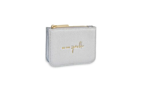 Stylish Structured Coin Purse | Be The Sparkle | Silver