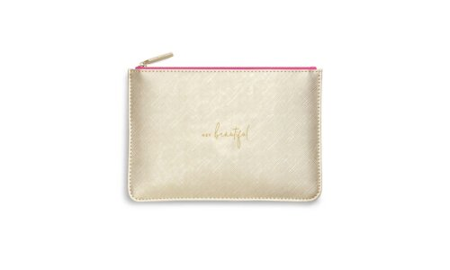 Color Pop Perfect Pouch | Hey Beautiful | Gold