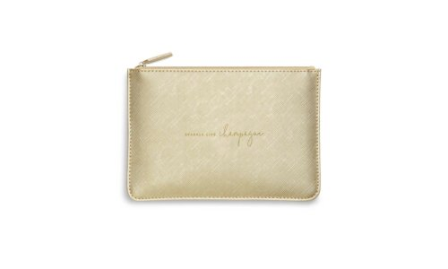 Perfect Pouch | Sparkle Like Champagne | Metallic Gold