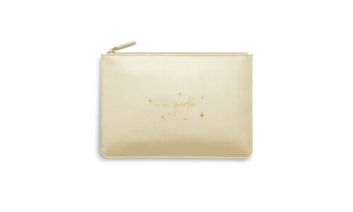 Perfect Pouch   Be The Sparkle   Gold