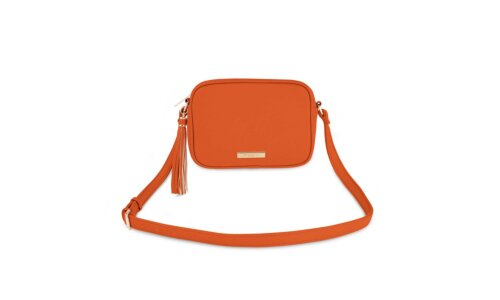 Sophia Tassel Crossbody | Orange