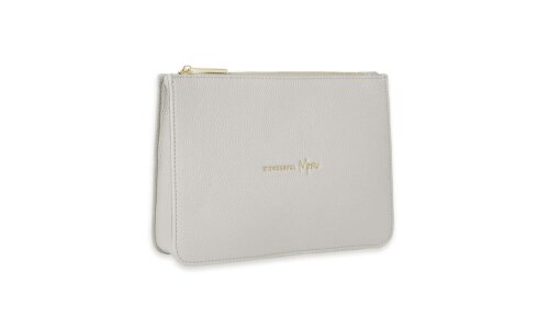 Stylish Structured Pouch | Wonderful Mom | Stone