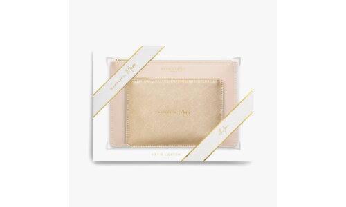Perfect Pouch Gift Set | Wonderful Mum | Oyster Pink