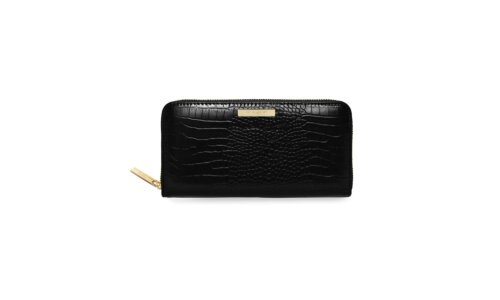 Celine Faux Large Croc Purse | Black