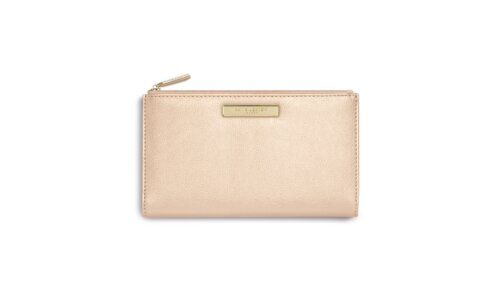 Alise Fold Out Purse | Metallic Champagne
