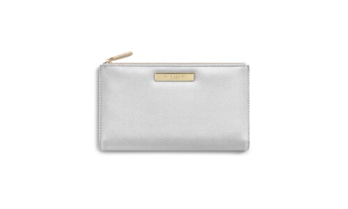 Alise Fold Out Purse | Metallic Silver