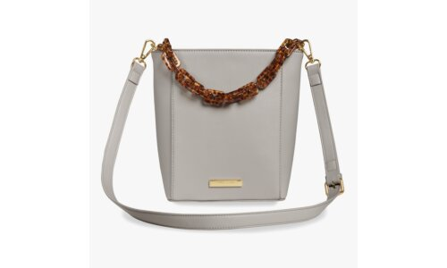 Ayla Tortoiseshell Strap Bag | Pale Grey