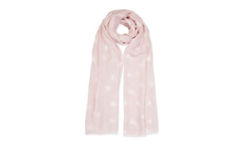 Sentiment Scarf | Fabulous Friend | Nude Pink and White