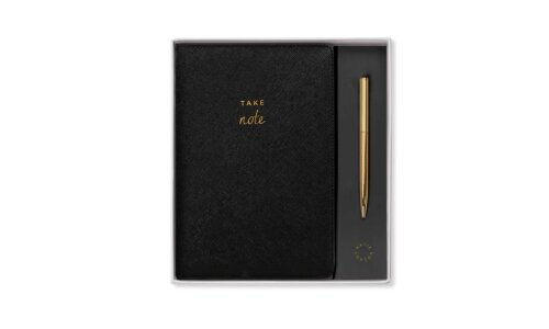 A5 Notebook and Pen | Take Note | Black