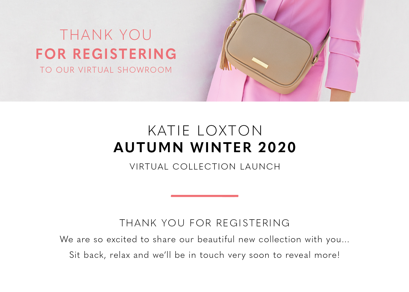 Katie Loxton Thank You For Registering