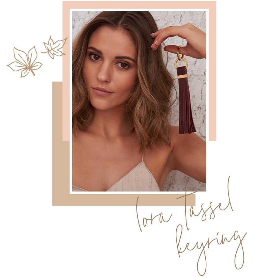 Lora Tassel Keyring