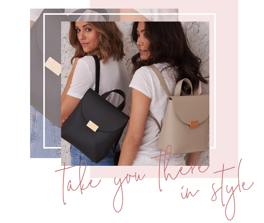 Take you there in style. Bailey backpack collection.