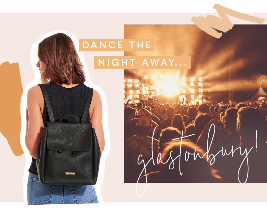 Bea Backpack and image of a festival crowd