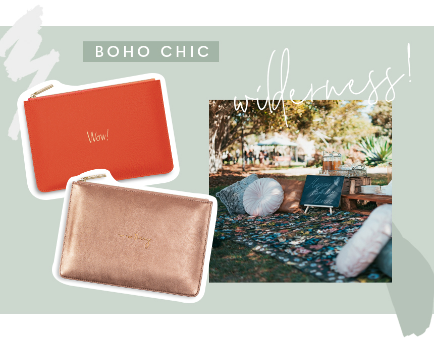 Wow Perfect Pouch, Jet Set Go metallic Perfect Pouch and picnic image