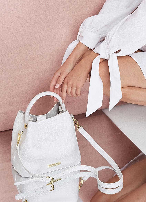 White Sienna slouch cross body bag
