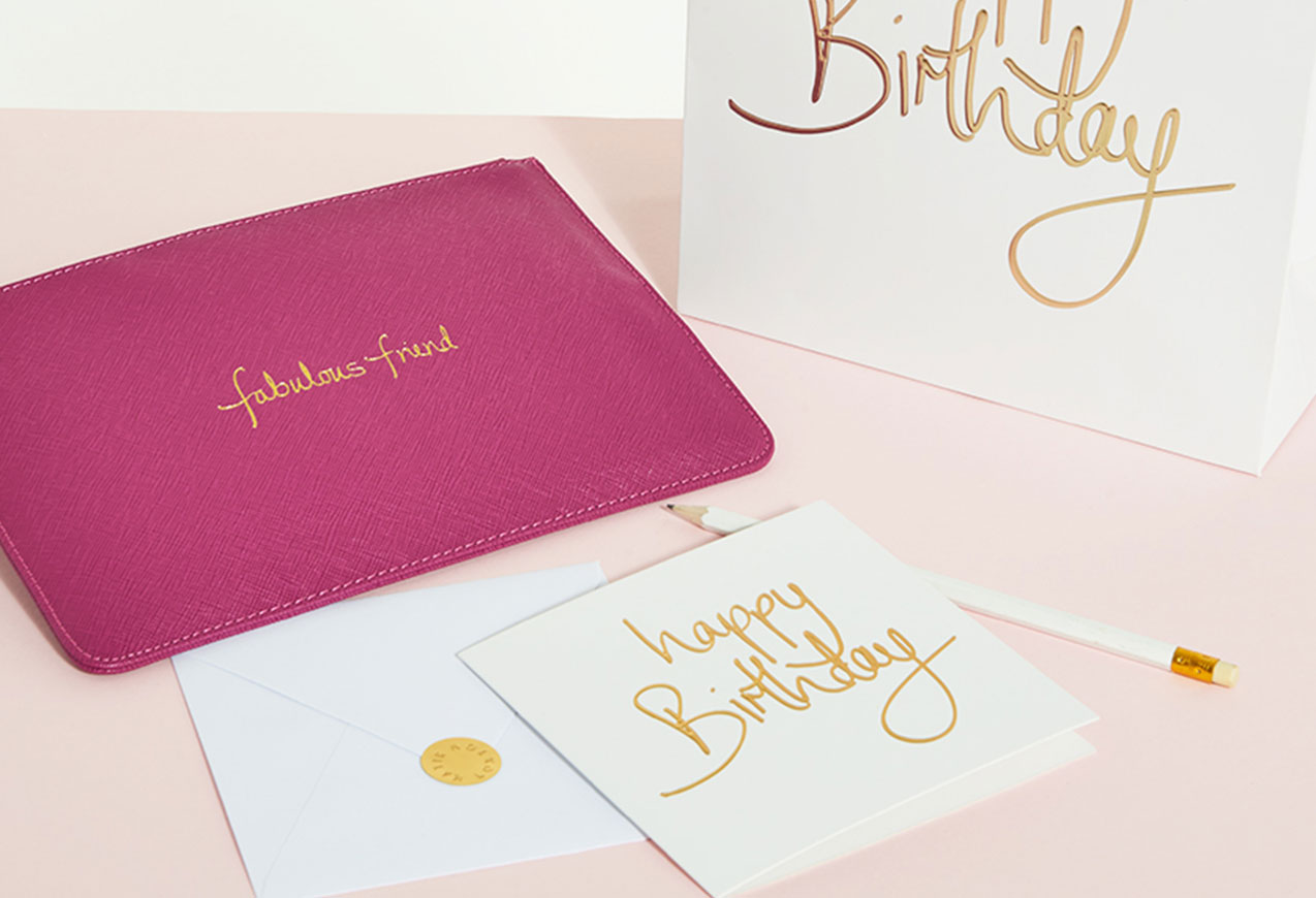Fabulous Friend Perfect Pouch, Happy Birthday greetings card and gift bag