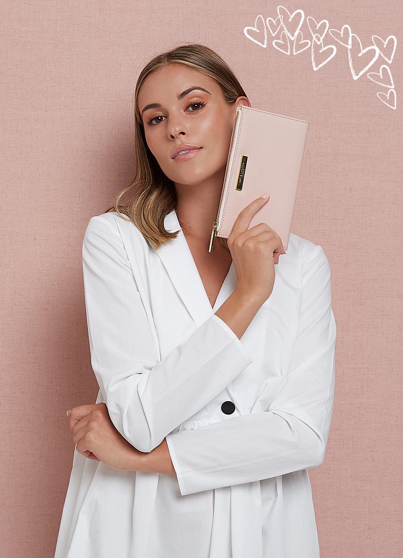 Pink Alise pebble purse
