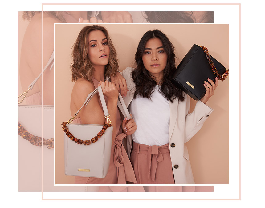 Ayla Tortoiseshell bag collection