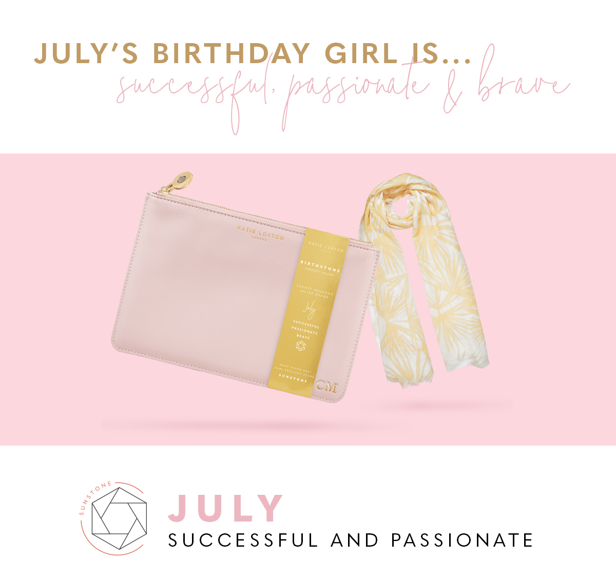 July Birthstone Perfect Pouch