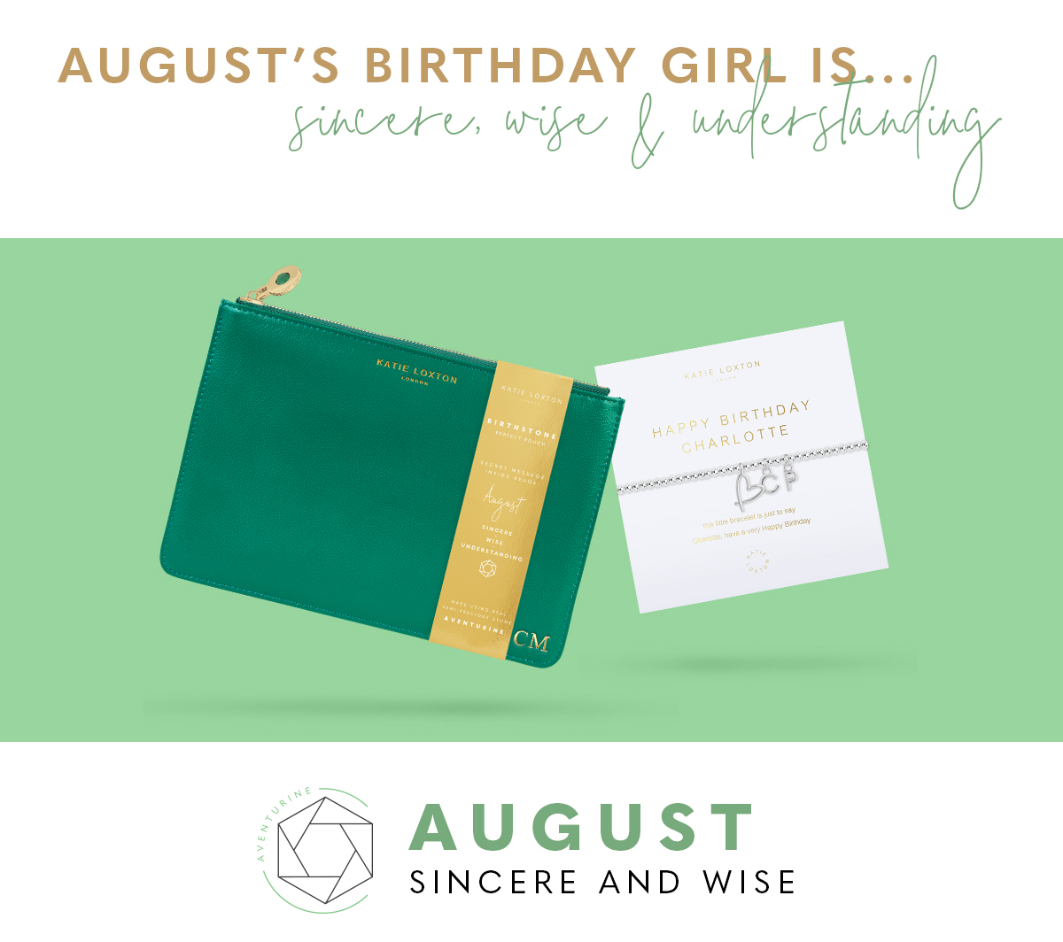 August Birthstone Perfect Pouch