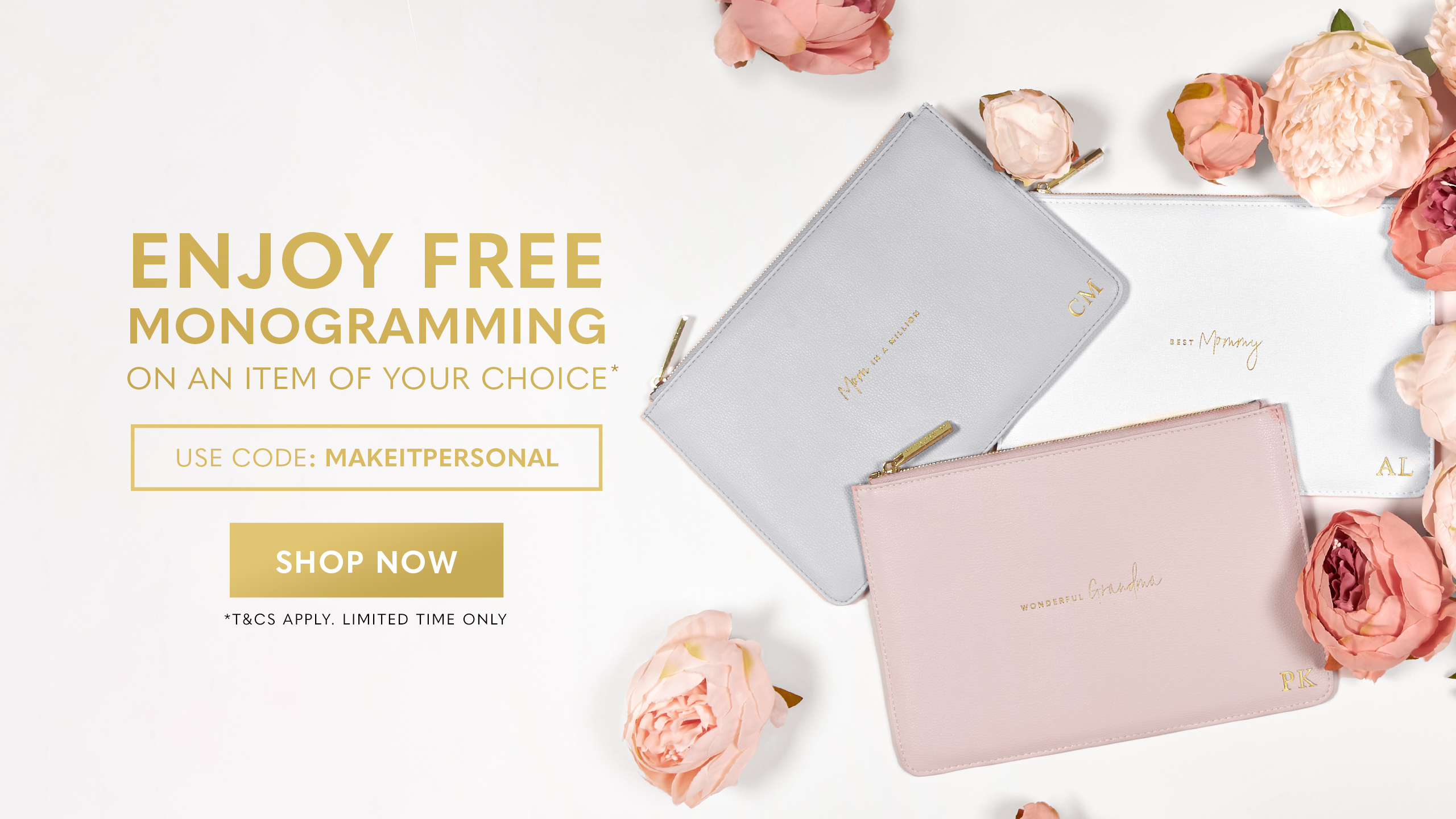 Mother's Day Free Monogramming