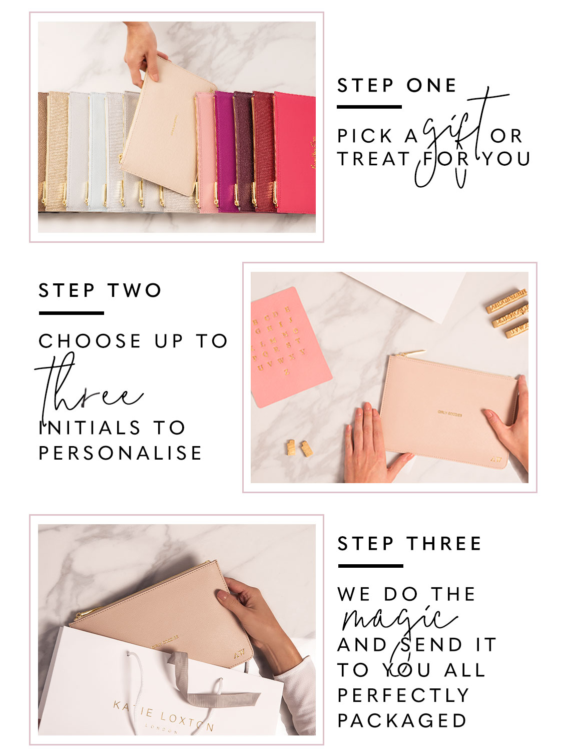 How to personalise your item